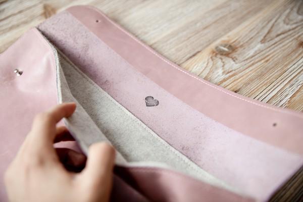 Laptop-Tasche braun/ rosa