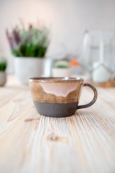 Teetasse braun/groß